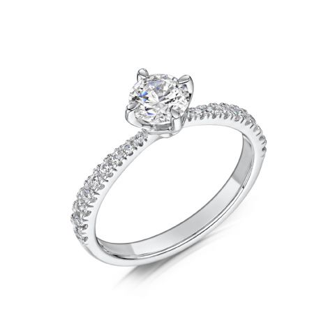 0.53 Carat GIA GVS Diamond solitaire 18ct White Gold Round brilliant Engagement Ring, MWSS-1172/033